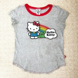 Gray & rainbow Hello Kitty Girls' t-shirt